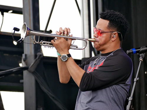 The Soul Rebels on Day 2 of French Quarter Fest - 4.12.19. Photo by Louis Crispino.