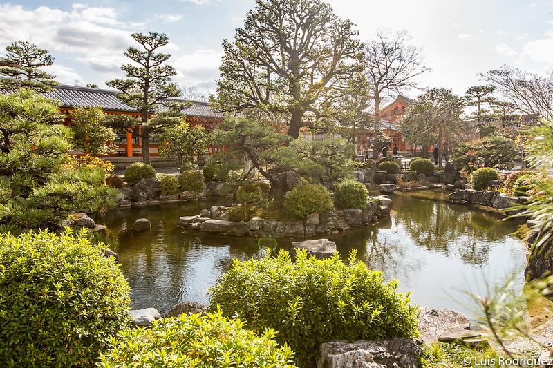 Uno de los estanques del jardines