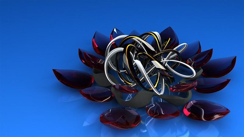Обои цветок, стекло, металл, форма, фигурка картинки на рабочий стол, фото скачать бесплатно