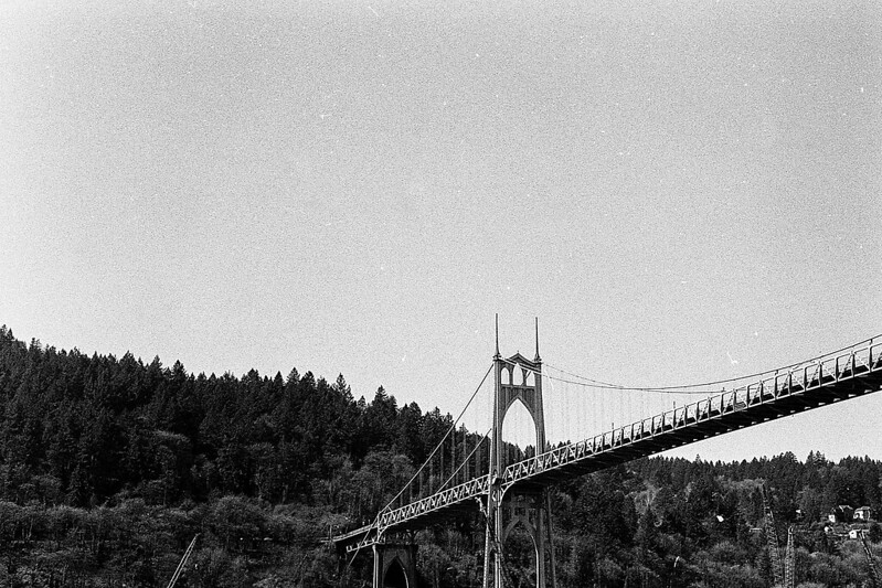 St. Johns bridge in Portland, taken from the beach