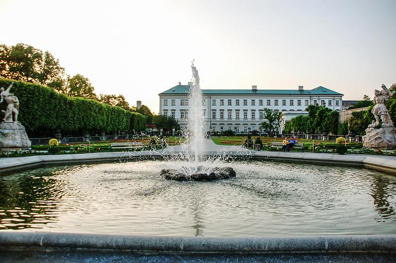 米拉貝爾花園中央噴泉