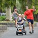 Roger with the triple pram by coburgparkrun
