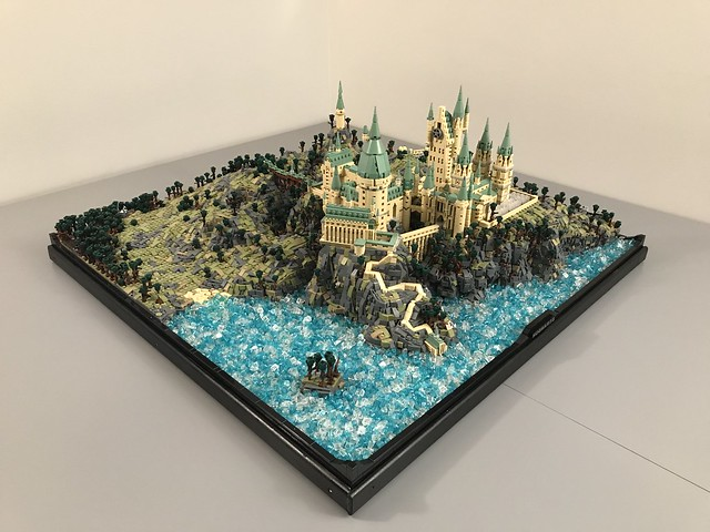 Not so tiny: This microscale LEGO Hogwarts uses over 75,000 pieces