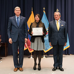 Fri, 03/29/2019 - 14:40 - On Friday, March 29, 2019, the William J. Perry Center for Hemispheric Defense Studies hosted a graduation ceremony for two courses: 'Strategic Implications of Human Rights and Rule of Law' and 'Combating Transnational Threat Networks.' Students from all over the Americas attended the courses from March 18-29, 2019. The graduation ceremony and reception took place in Lincoln Hall at the National Defense University's North Campus at Fort McNair in Washington, DC.