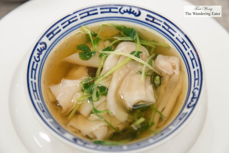 Bowl of Shanghainese wontons (cooked to order)