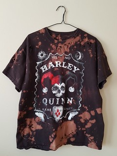 Splatter Bleached and Shredded Harley Quinn T Shirt Large | by shopthegasstation