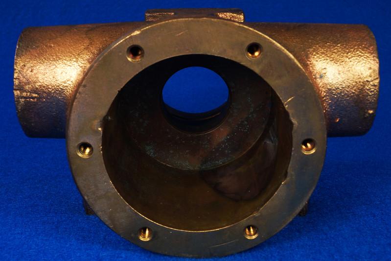 RD26699 Jabsco 2 inch Bronze Pedestal Pump Housing & Plate Only #18370-0000 DSC08796
