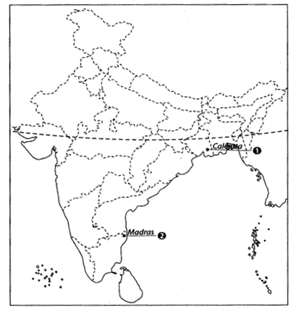 Class 10 History Map Work Chapter 3 Nationalism in India A6