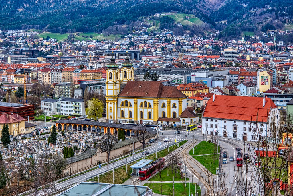 Innsbruck with Rococo church