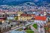 "Innsbruck with Rococo church ""Basilika Wilten"" in Tyrol, Austria by UweBKK (α 77 on )"