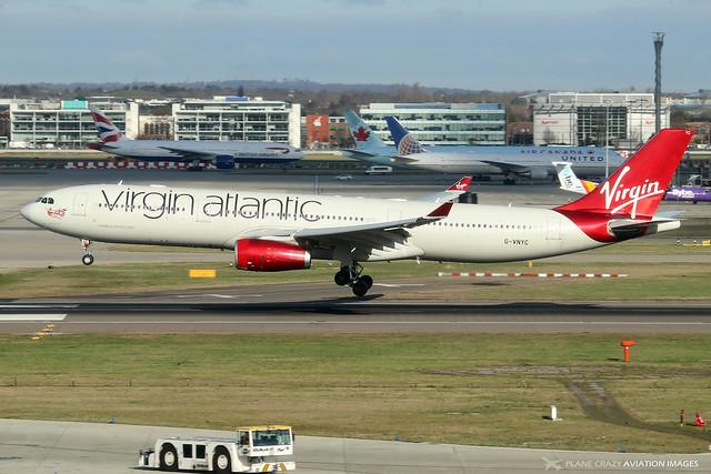 G-VNYC  -  Airbus A330-343  -  Virgin Atlantic Airways  -  LHR/EGLL 11-2-19