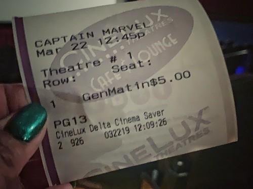 ticket to Captain Marvel | by walelia