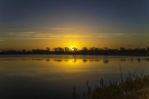 canon6d sunrise landscape waterscape sun dawn water lake reflection outdoors nature uk cambridgeshire