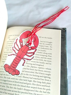 DIY Bookmark Lobster in Book | by eppujensen