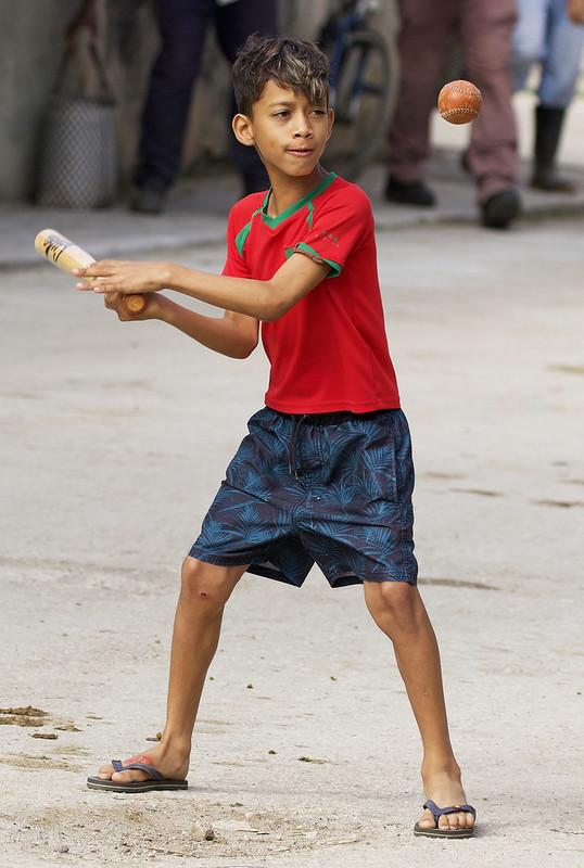 Kid practicing beisball Trinidad, Cuba Ascanio 199A4427