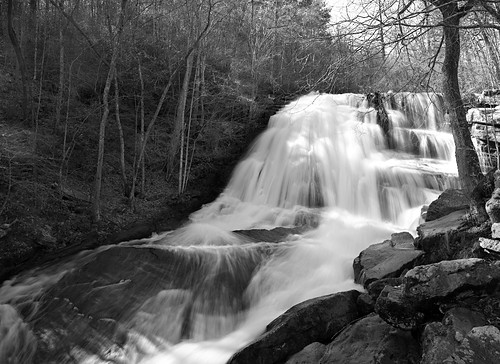 waterfall virginia blackandwhitelandscape