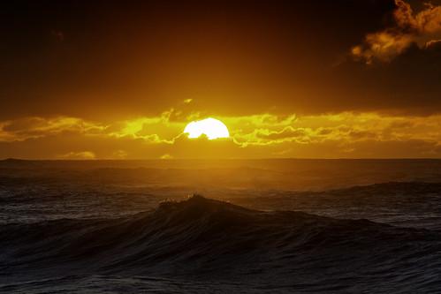 The Sun Sets Upon Rough Seas, Hawaii | by El-Branden Brazil