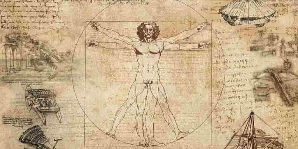 Léonard-de-Vinci-ambidextre-dessin