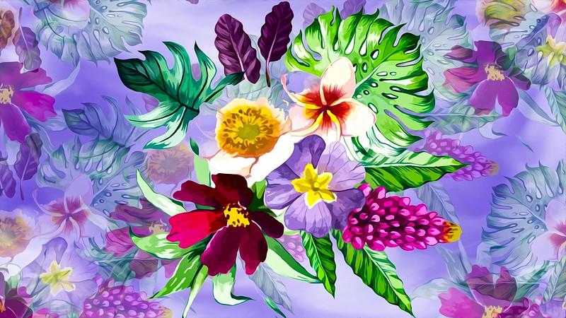 Обои Grafika, Kwiaty, Tło картинки на рабочий стол, раздел цветы - скачать