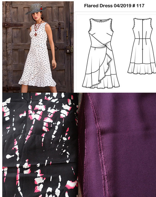 Burda april dress fabric options