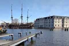 Het Scheepvaartmuseum - Maritime Museum with VOC Amsterdam replica