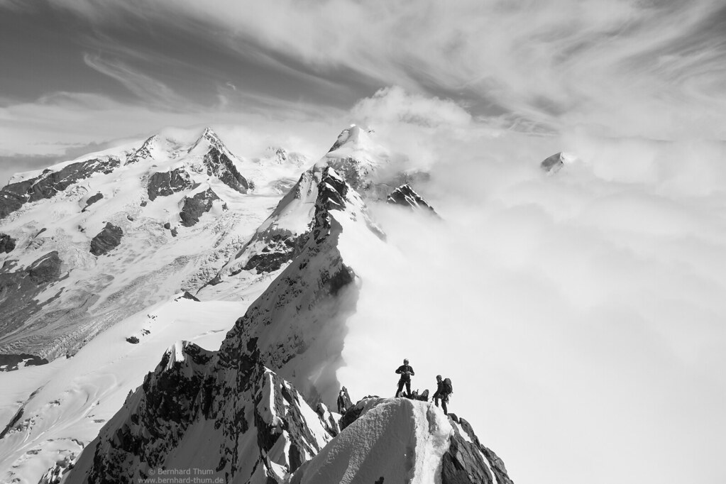 Traverse of Breithorn Mono version | This is a mountaineerin… | Flickr