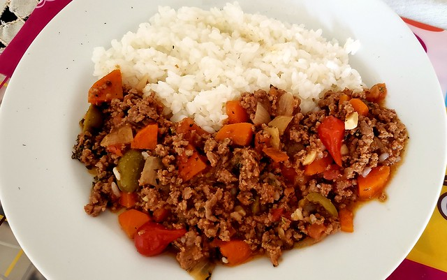 #080319 #almoço #arroz e carne moída #lunch #ruce and mixed meat