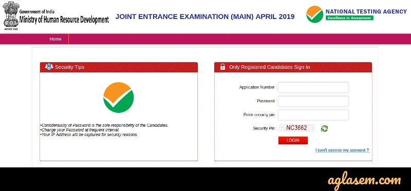 JEE Main 2019 Answer Key (Released) by NTA - Download Here PDF