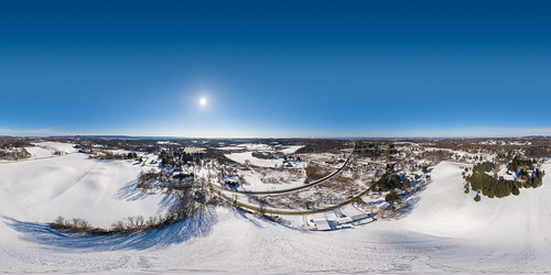 brunswick dji newyork troy wynantskill aerial blue clear cold drone equirectangular panorama snow spherical sunny winter unitedstates us