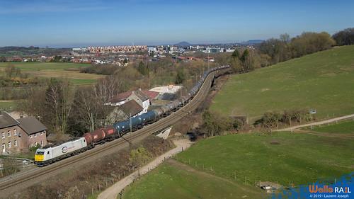 186 165 db cargo nl ligne 24 aachen 26 fevrier 2019 laurent joseph www wallorail be
