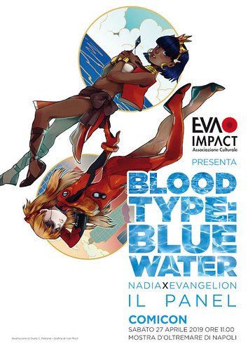 "Napoli Comicon 2019: ""Blood Type: Blue Water – Nadia × Evangelion 