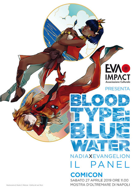 "Napoli Comicon 2019: ""Blood Type: Blue Water – Nadia × Evangelion"