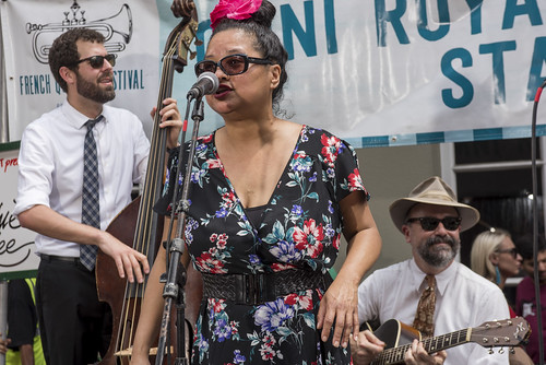 Miss Sophie Lee plays French Quarter Fest day 3 on April 13, 2019. Photo by Ryan Hodgson-Rigsbee RHRphoto.com