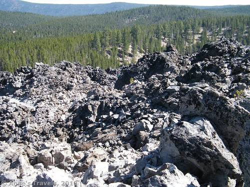 Obsidian flow in Newberry Volcanic National Monument, Oregon