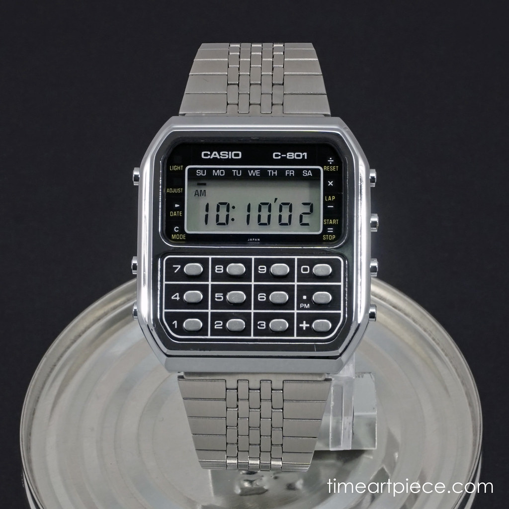 Casio C-801 calculator watch