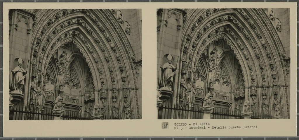 Puerta de los Leones. Colección de fotografía estereoscópica Rellev © Ajuntament de Girona / Col·lecció Museu del Cinema - Tomàs Mallol