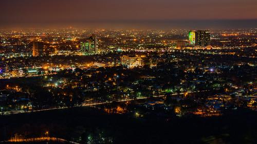 dusk skyline cityscape skyscraper islamabad capital territory pk pakistan urban urbex aerial long exposure blue hour golden orange nightscape night city dramatic sky street light twilight sunset
