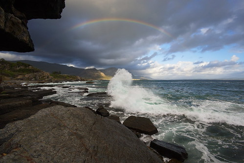 hermanus südafrika southafrica wave welle rainbow regenbogen superstarphotographer elitephotographers evening sunsetlight abendlicht