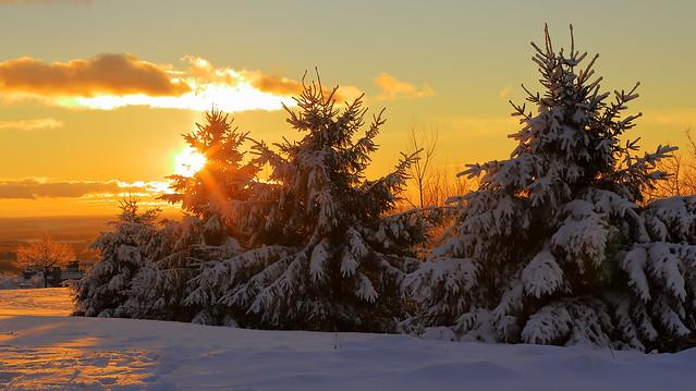 La beauté de l'hiver au crépuscule !!!