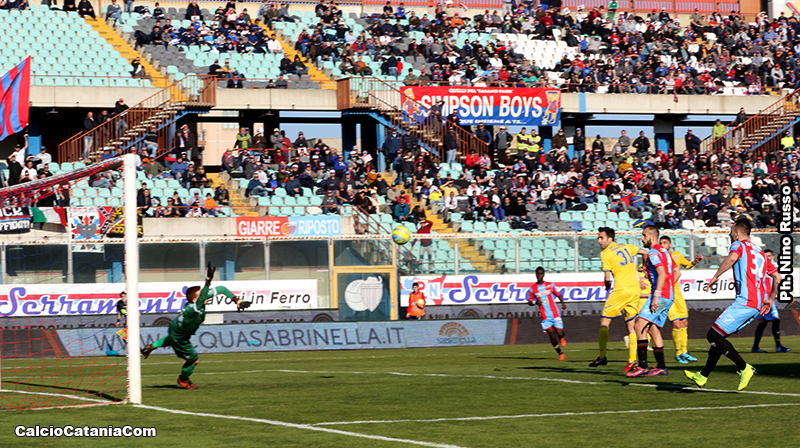 Il gol di Ciccio Lodi decisivo nell'ultimo Catania-Paganese