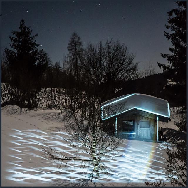 winter night lights