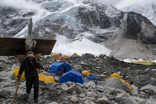 Porter at Everest Base Camp