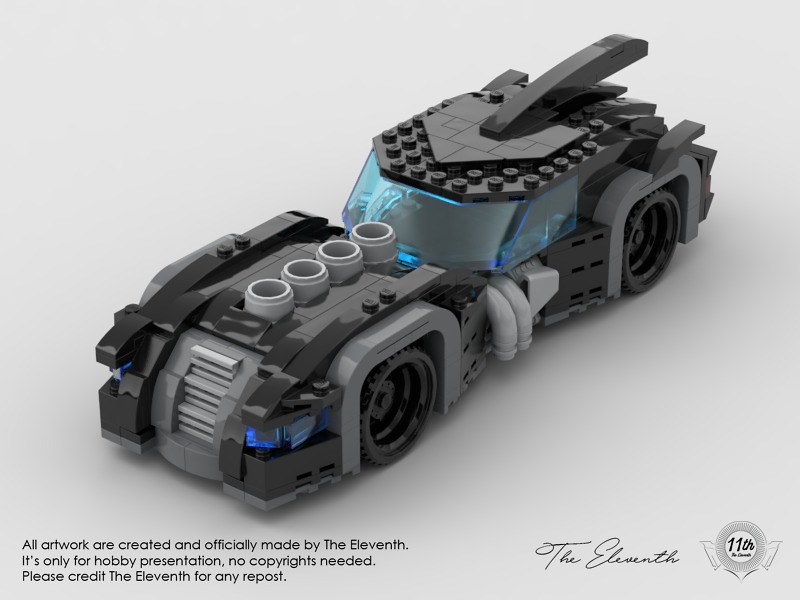 MOC Batmobile Arkham Asylum, work in progress.  #Lego #Moc #batman #batmobile #arkhamasylum #legomoc