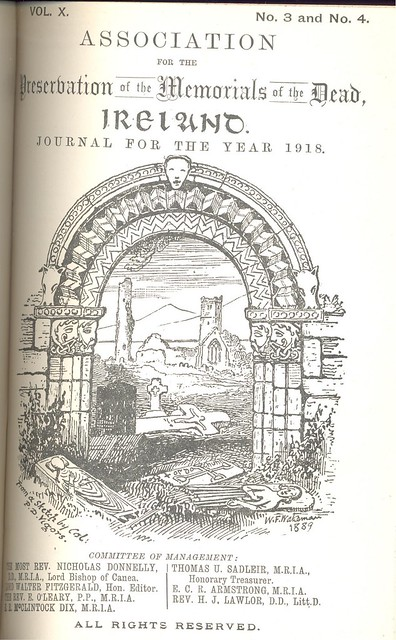 Front page of Journal For The Association for the Preservation of the Memorials of the Dead.