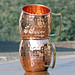 Pure Copper Hand Beaten Moscow Mule Mug Set