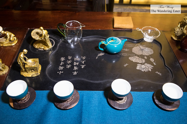 Kung fu tea section of the table