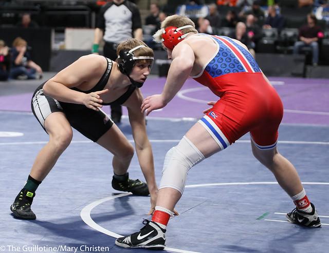 160AA 3rd Place Match - Jace Demmers (Scott West) 44-9 won by decision over Jacob Hageman (Simley) 35-11 (Dec 4-3). 190302BMC3816