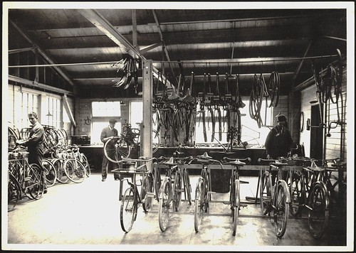 Post Office cycle repair shop, early 1930s | by Archives New Zealand