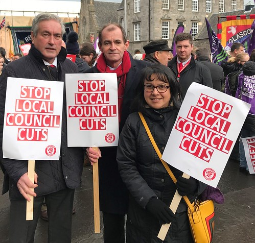 At Stop Council Cuts rally outside Holyrood | by Iain Gray MSP