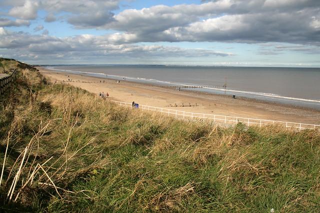 The beach at Hornsea, Yorkshire